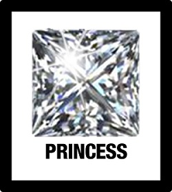 image of princess cut diamond